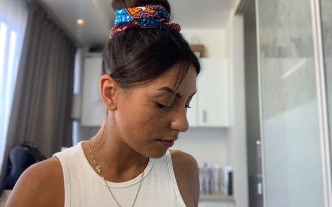Tuto | foulard | chignon haut